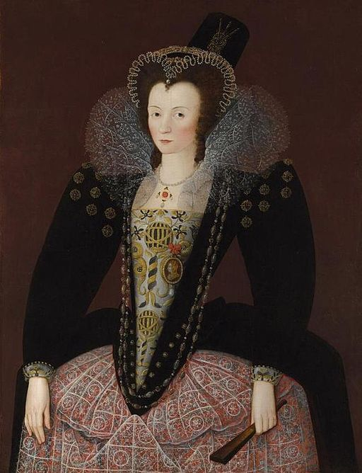 Portrait of Dorothy, Lady Dormer (1577 - ?), daughter of Sir Robert, 1st Baron Dormer, of Wing (1552-1616)and wife of Henry Hudleston of Sawston.