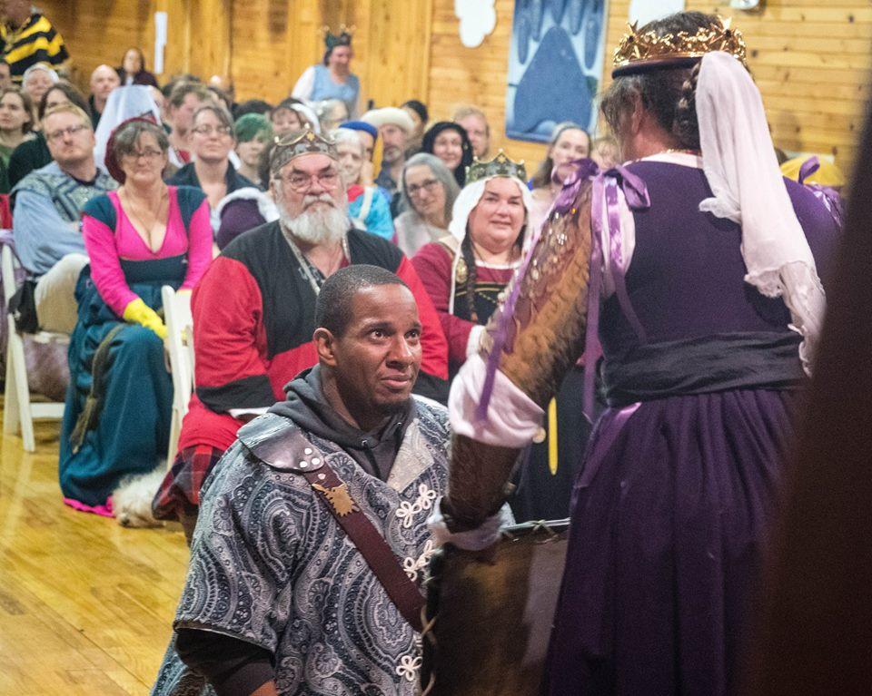 Sterling de la Rosa receives the Shield of Chivalry