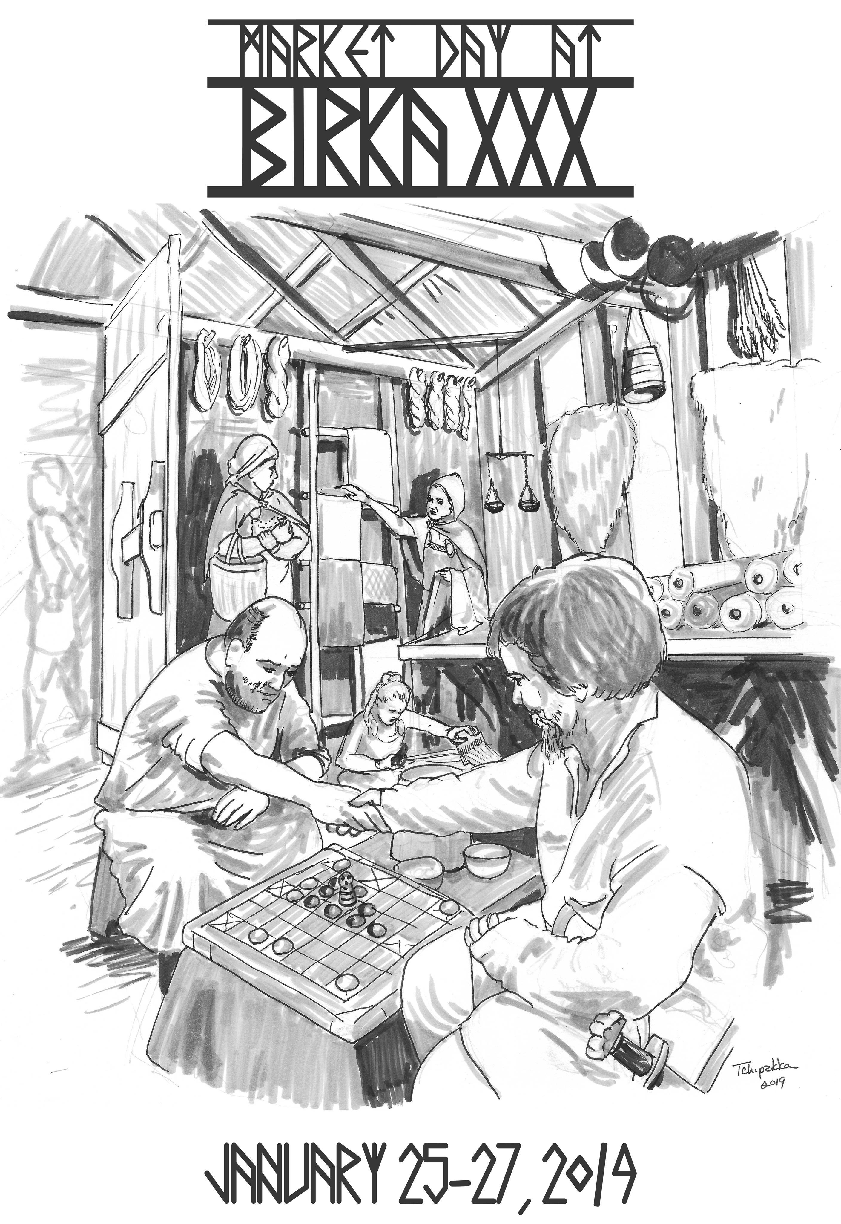 Event site book cover illustration