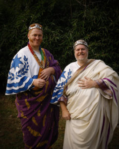 Prince Magnus and Prince Alberic, newly crowned Heirs to the East Kingdom
