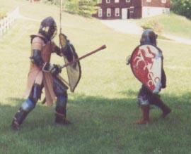 Lord Michael de Calais in heavy list combat