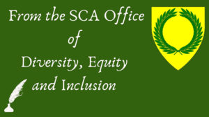 Graphic Title - From the SCA Office of Diversity, Equity and Inclusion