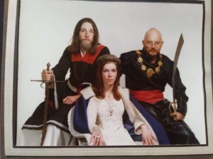 Formal portrait of Edward with Viscount Elrond Blacksabre and Viscountess Gilrean of Regen